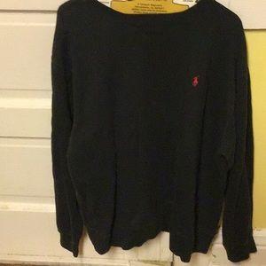 Polo By Ralph Lauren Red LOGO Blk Comfy Sweatshirt